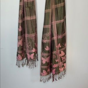 Accessories - Butterfly pashmina silk scarf